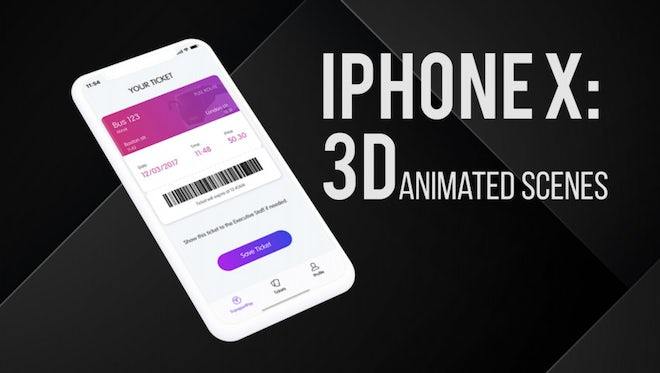 3D Animated iPhone X: Premiere Pro Templates