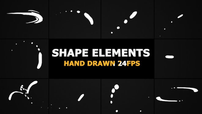 Swirling Shape Elements Pack: Stock Motion Graphics