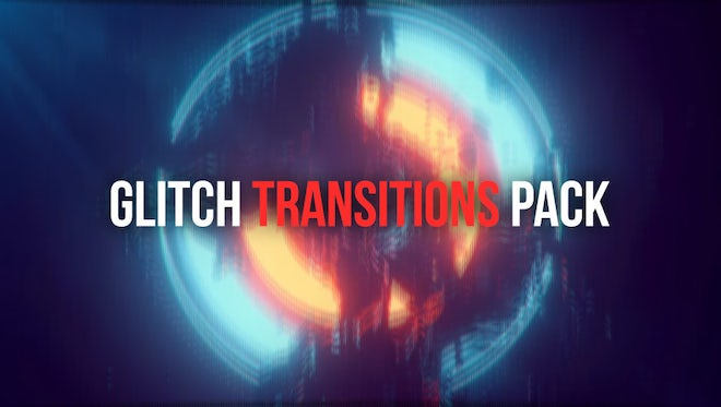 Glitch Transitions Pack: After Effects Templates