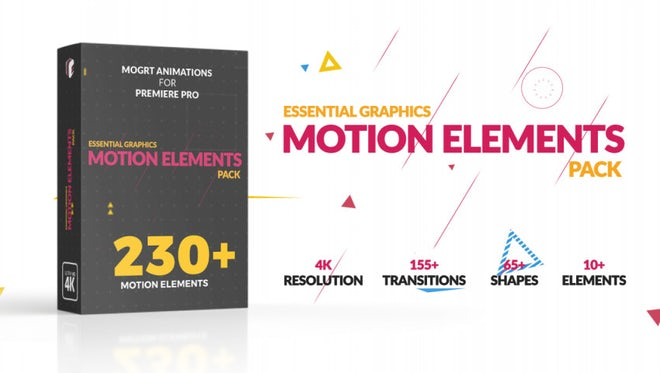 Motion Elements Pack: Motion Graphics Templates
