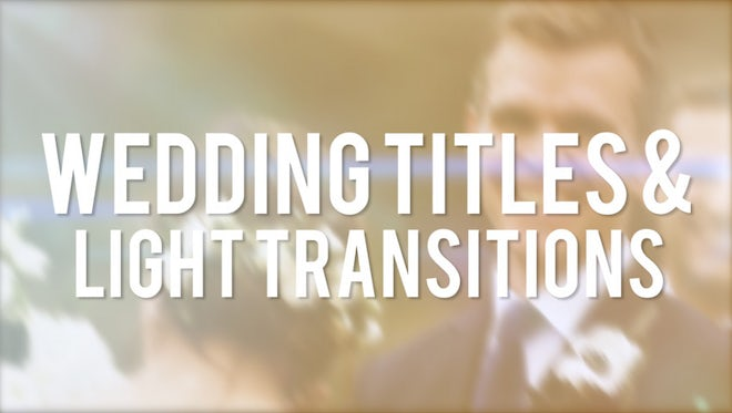 Wedding Tiles & Light Blur Transitions: Premiere Pro Templates