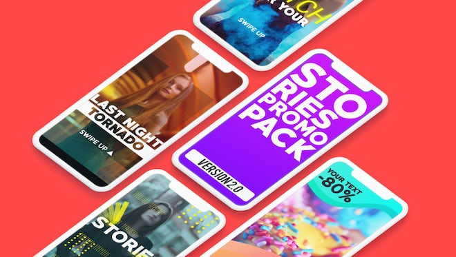 Instagram Stories Promo Pack v2: After Effects Templates