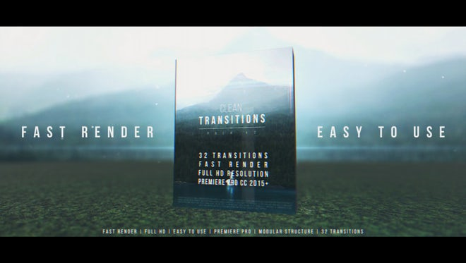 Clean Transitions Pack v2: Premiere Pro Templates