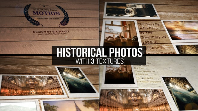 Historical Photos: After Effects Templates