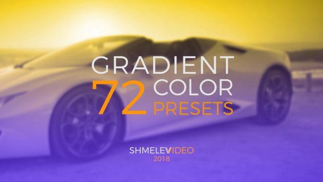 Gradient Color Presets: Premiere Pro Presets