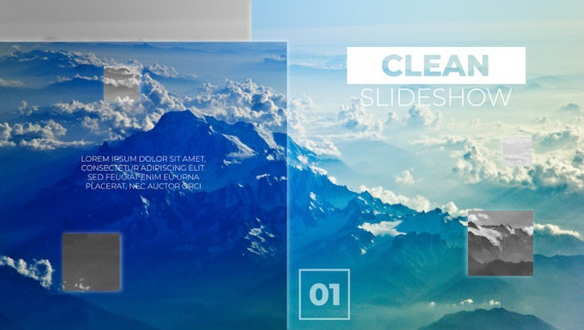 Clean Slideshow: After Effects Templates