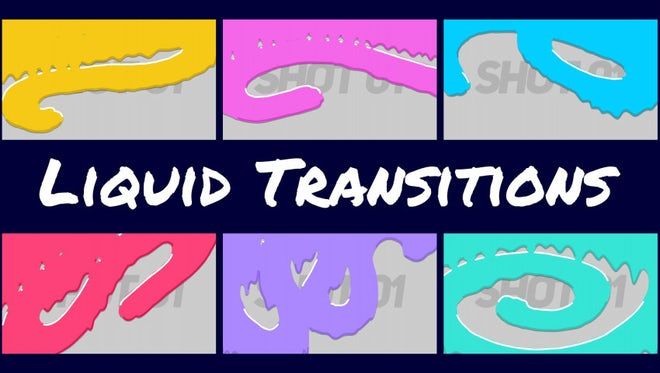 Cartoon Liquid Transitions: Premiere Pro Templates