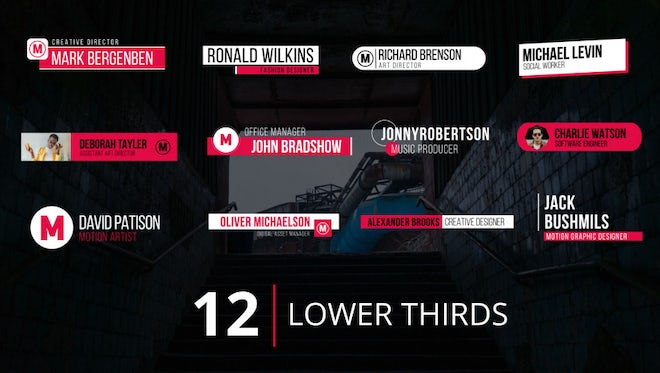 Lower Thirds v.1: After Effects Templates