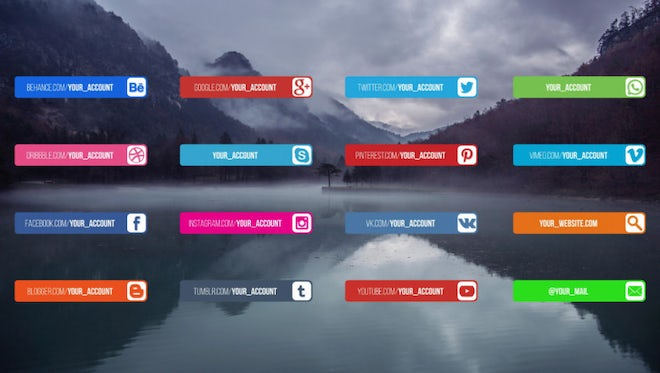 16 Social Media Lower Thirds: Motion Graphics Templates