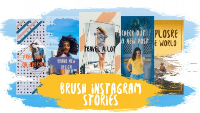 Brush Instagram Stories: After Effects Templates