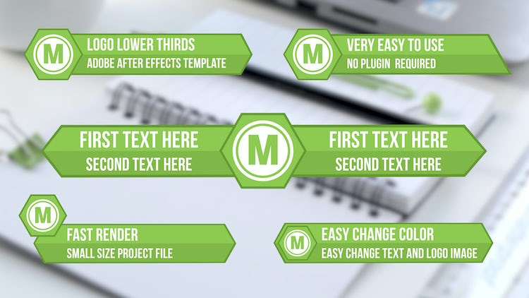 Customize Logo Lower Thirds: After Effects Templates