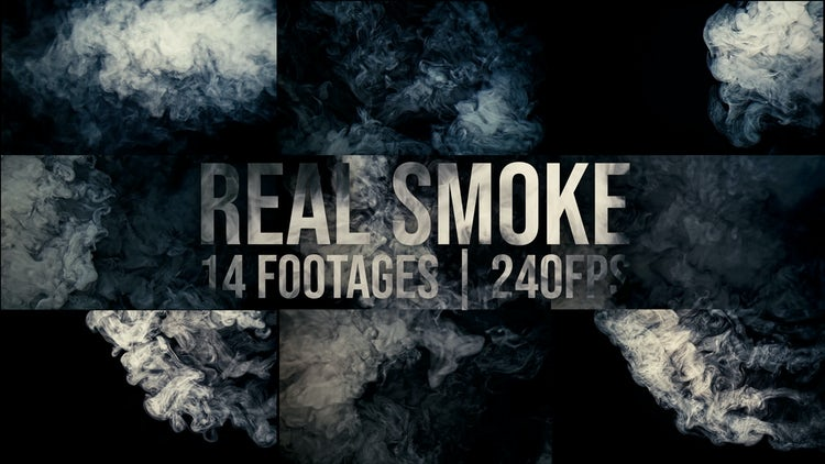 Real Smoke - 14 Clips: Stock Video