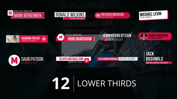 Lower Thirds v.1: Premiere Pro Templates