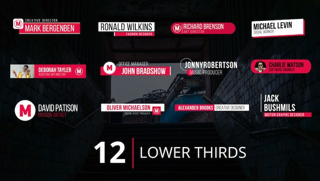 Lower Thirds v.1: Premiere Pro Templates