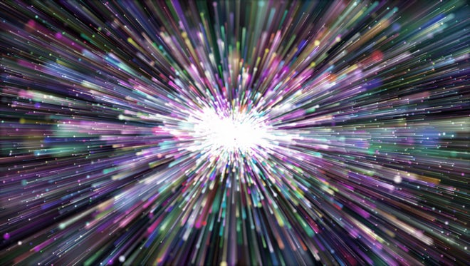 Colorful Particle Light Bloom: Stock Motion Graphics