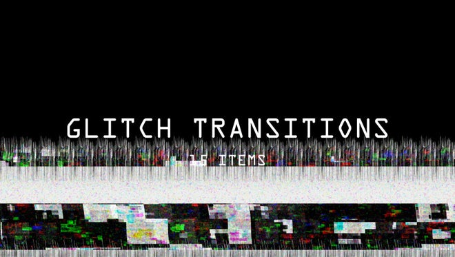 Glitch Transitions Pack: Stock Motion Graphics