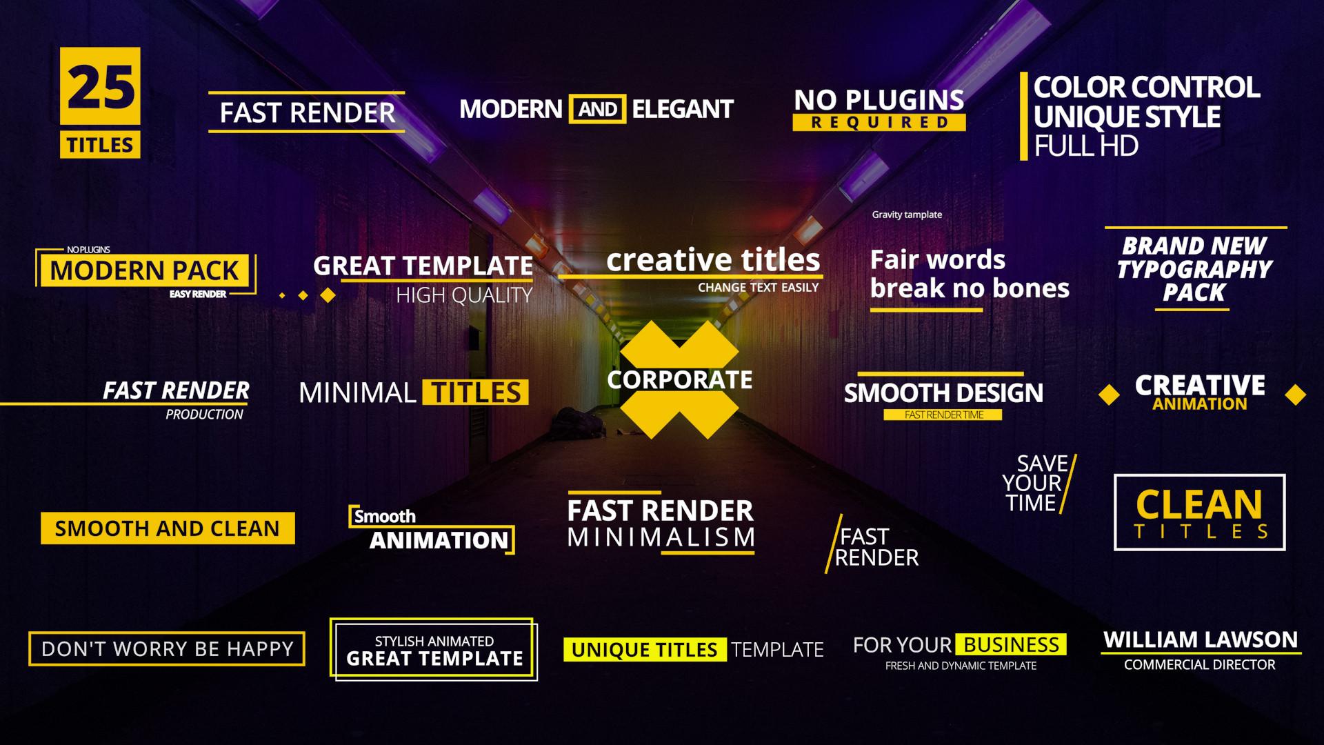 25 titles pack premiere pro templates motion array. Black Bedroom Furniture Sets. Home Design Ideas