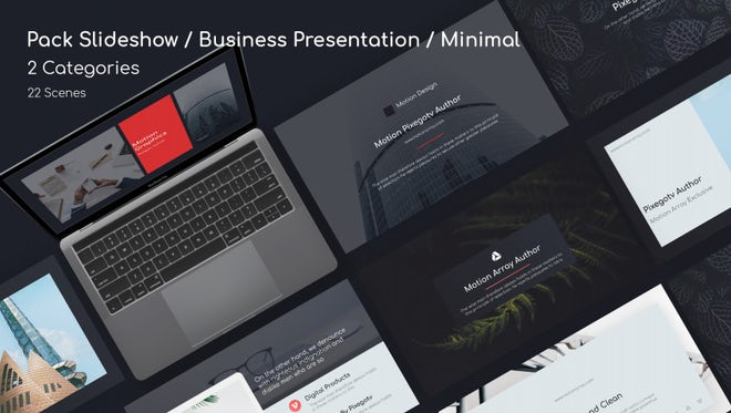 Pack Slideshow / Business Presentation / Minimal: After Effects Templates