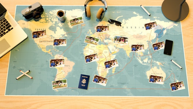 Travel Map Slideshow (Photo Version): After Effects Templates