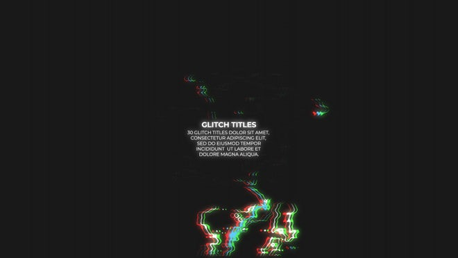 Glitch Titles Huge Pack: Motion Graphics Templates