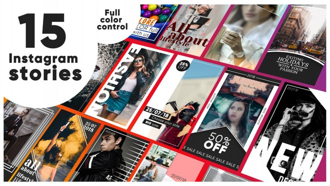 Instagram Pack V.1: After Effects Templates