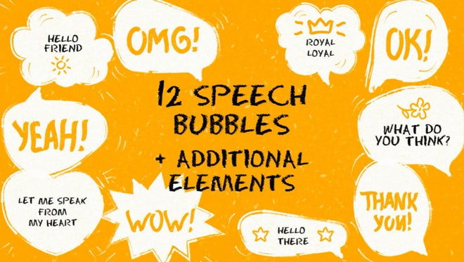 Funny Speech Bubbles: After Effects Templates