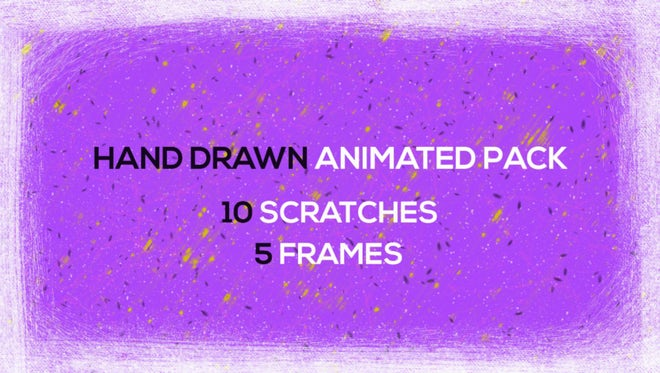 Hand Drawn Scratches and Frames: Stock Motion Graphics