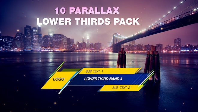 Parallax Lower Third Pack : Stock Motion Graphics