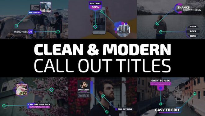 Clean & Modern Call Out Titles: Premiere Pro Templates