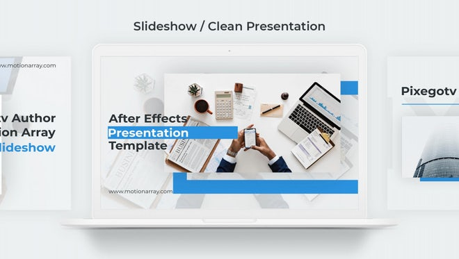 Slideshow / Clean Presentation: After Effects Templates