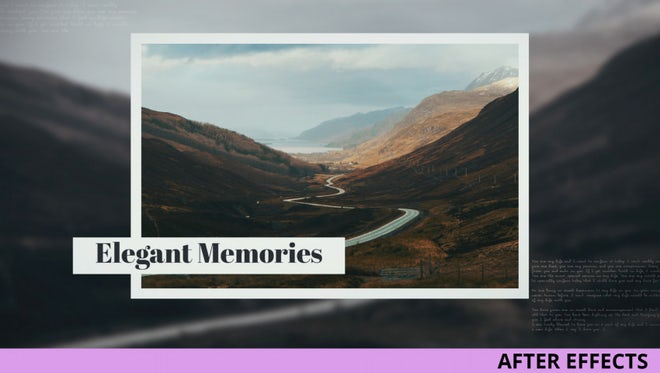 Elegant Memories: After Effects Templates