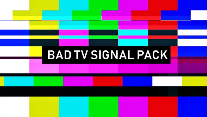 Bad TV Signal Pack: Stock Motion Graphics