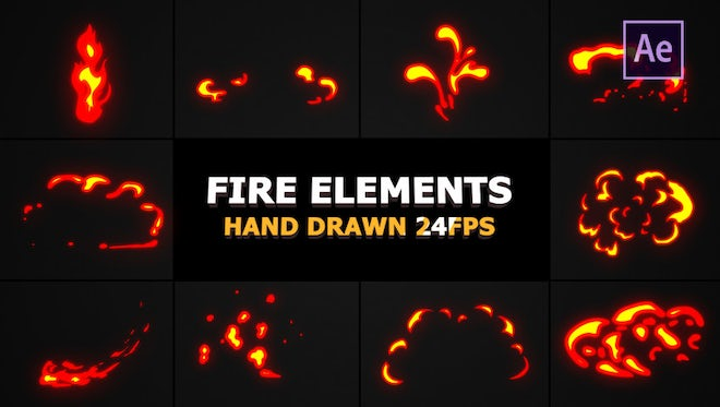 Flash FX Flame Elements: After Effects Templates