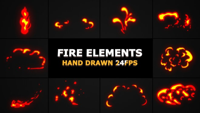 Fire FX Elements Pack: Stock Motion Graphics