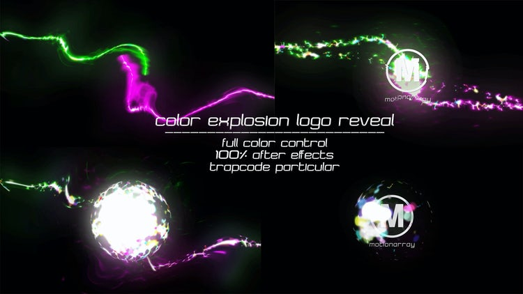 Color Explosion Logo Reveal - After Effects Templates ...