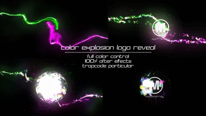 Color Explosion Logo Reveal: After Effects Templates
