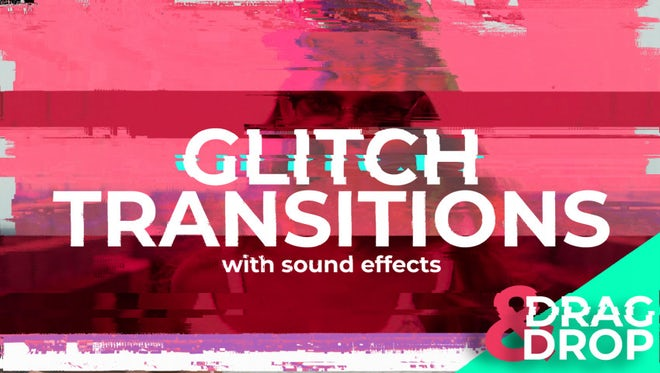 Abstract Glitch Transitions: After Effects Templates