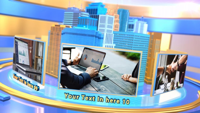 3D City Digital Technology Intro: After Effects Templates