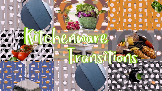 Kitchenware Transitions: Stock Motion Graphics