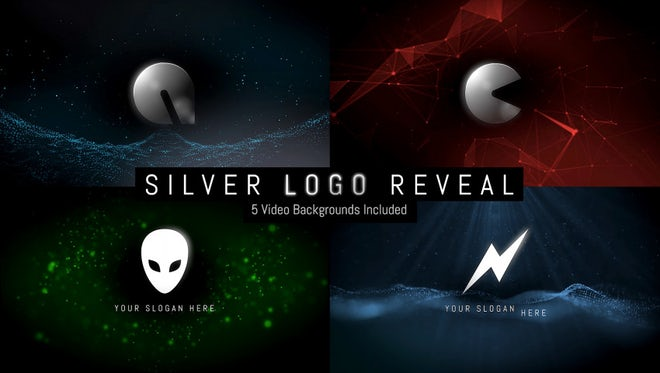 Silver Logo Reveal: After Effects Templates