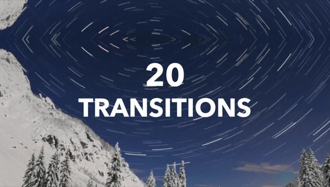 20 Transitions Pack: Premiere Pro Templates