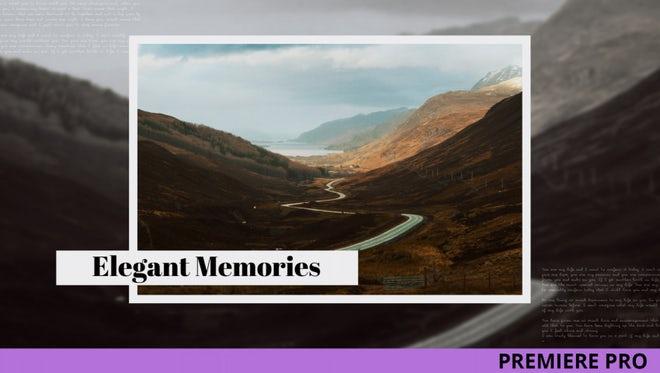 Elegant Memories: Premiere Pro Templates