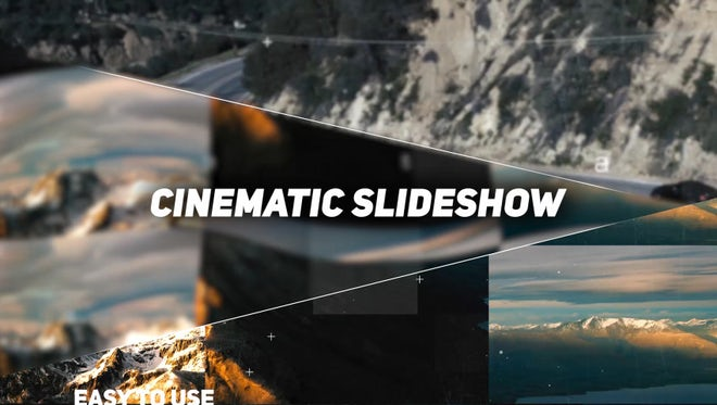 Clean Cinematic Slideshow: Premiere Pro Templates
