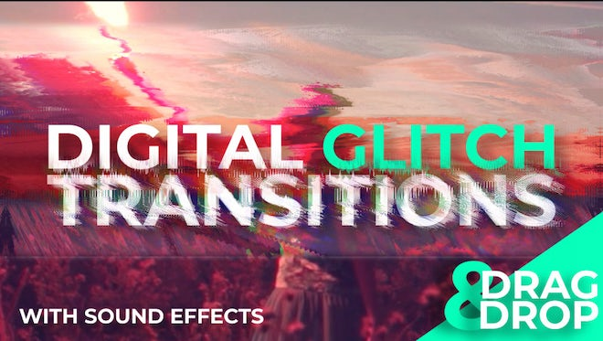 Digital Glitch Transitions: After Effects Templates
