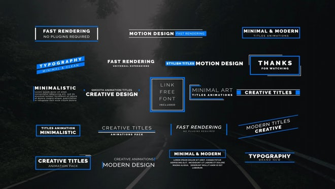 20 Animated Titles: After Effects Templates