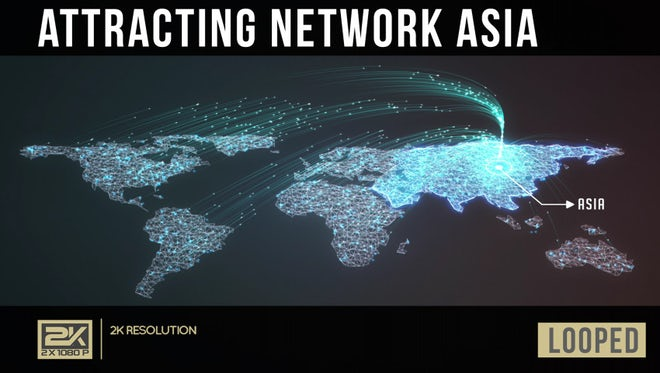 Attracting Network Asia: Stock Motion Graphics