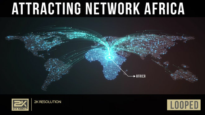 Attracting Network Africa: Stock Motion Graphics