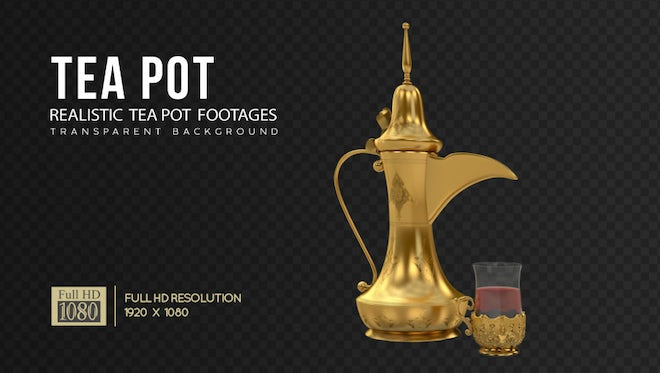 Arabic Teapot And Dates Pack: Stock Motion Graphics