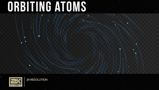 Orbiting Atoms: Stock Motion Graphics