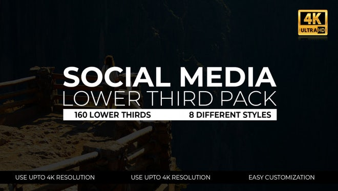 Social Media Lower Thirds Pack: After Effects Templates
